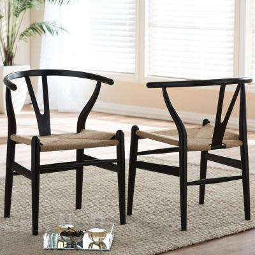 Sensational 4 Black 2 Mid Century Modern Dining Chairs Kitchen Creativecarmelina Interior Chair Design Creativecarmelinacom