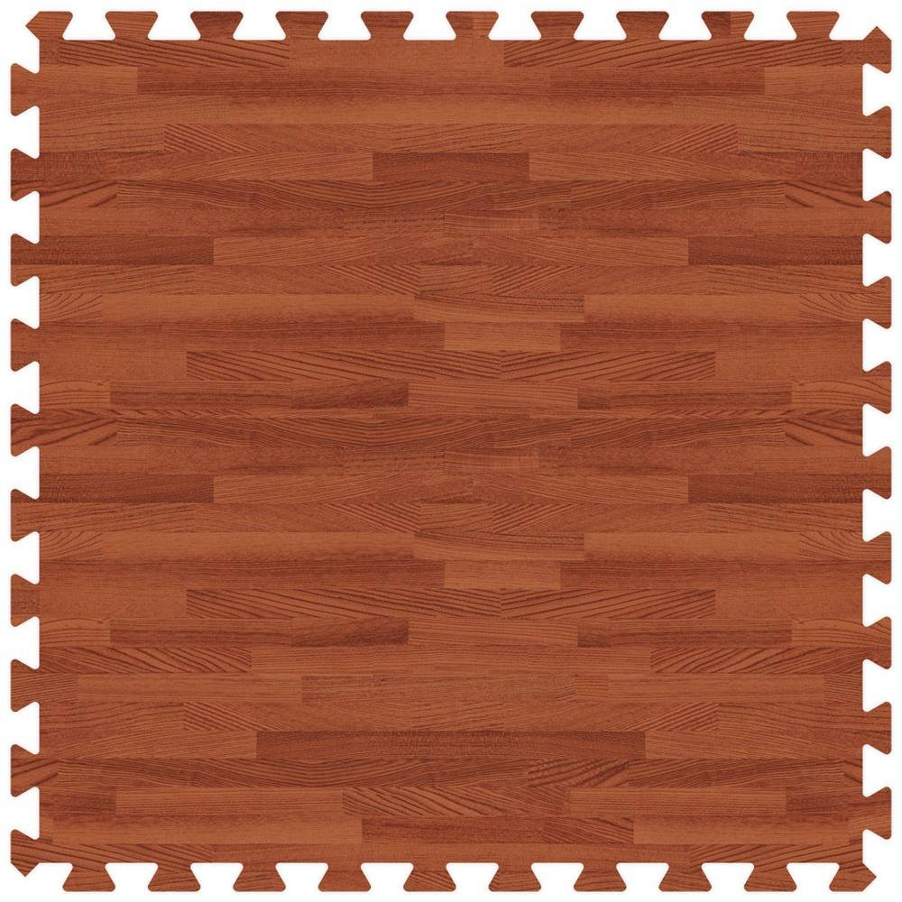 Groovy Mats Red Oak 24 in. x 24 in. Comfortable Wood Grain Mat (100 sq.ft. / Case)