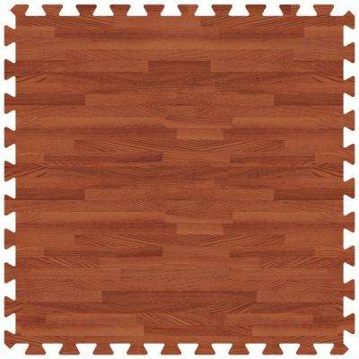 Red Oak 24 in. x 24 in. Comfortable Wood Grain Mat (100 sq.ft. / Case)