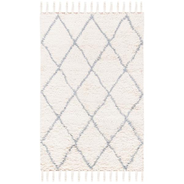 Safavieh Casablanca Blue Ivory 4 Ft X 6 Ft Area Rug Csb951m 4 The Home Depot