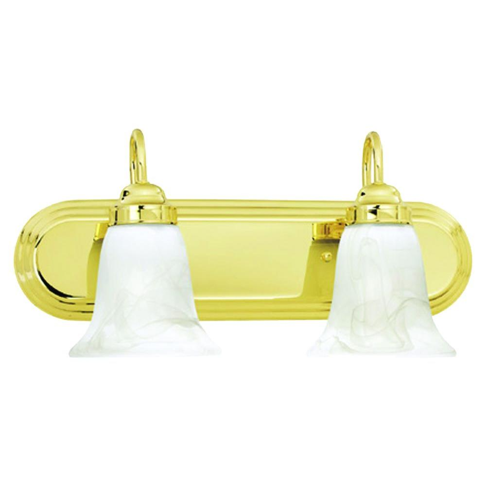 Thomas Lighting Homestead 2-Light Polished Brass Wall Vanity-DISCONTINUED
