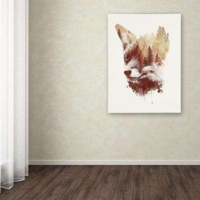 "24 in. x 18 in. ""Blind Fox"" by Robert Farkas Printed Canvas Wall Art"