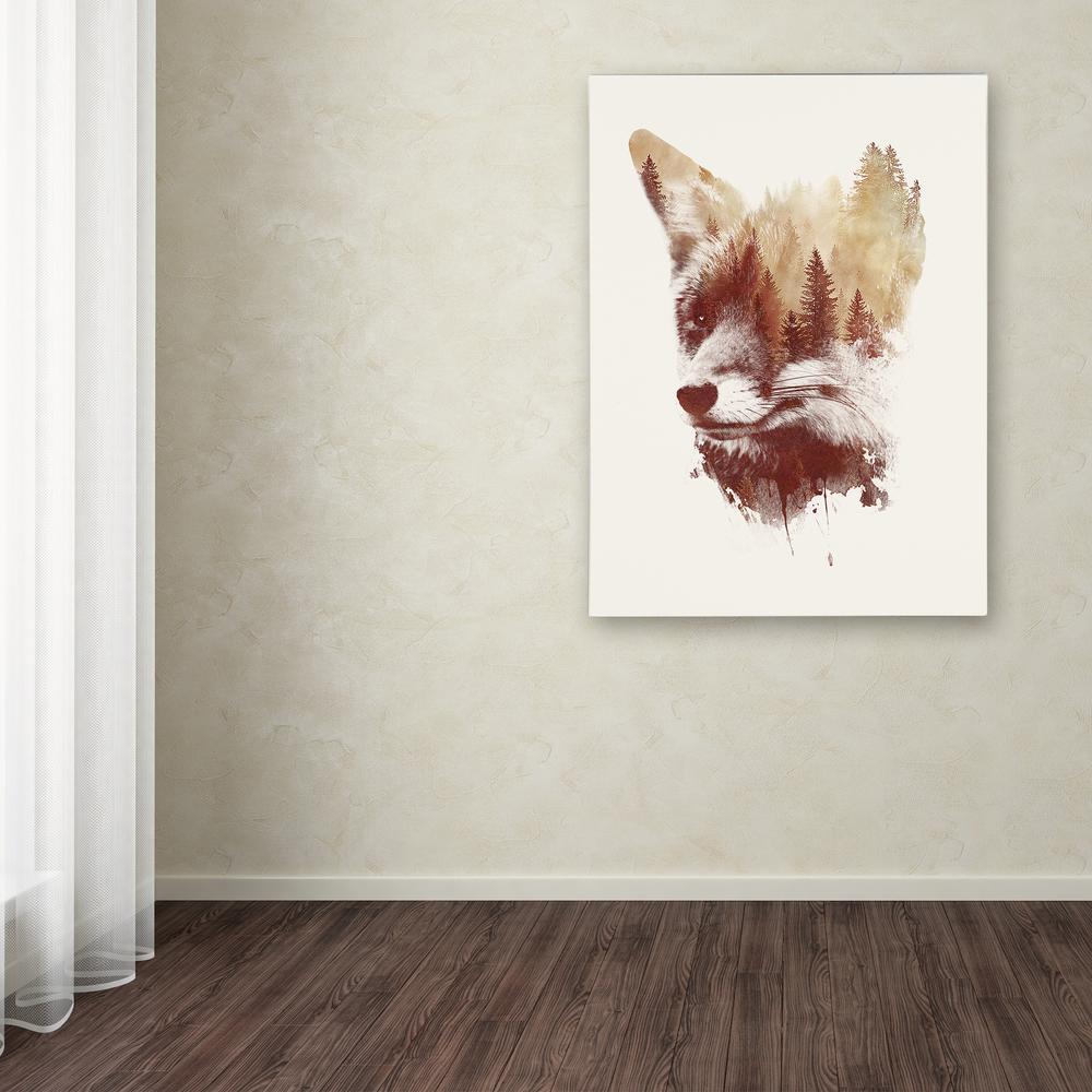 "32 in. x 24 in. ""Blind Fox"" by Robert Farkas Printed Canvas Wall Art"