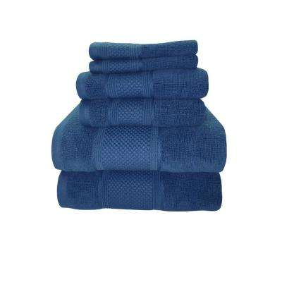 Horizon 6-Piece 100% Cotton Bath Towel Set in Nautical