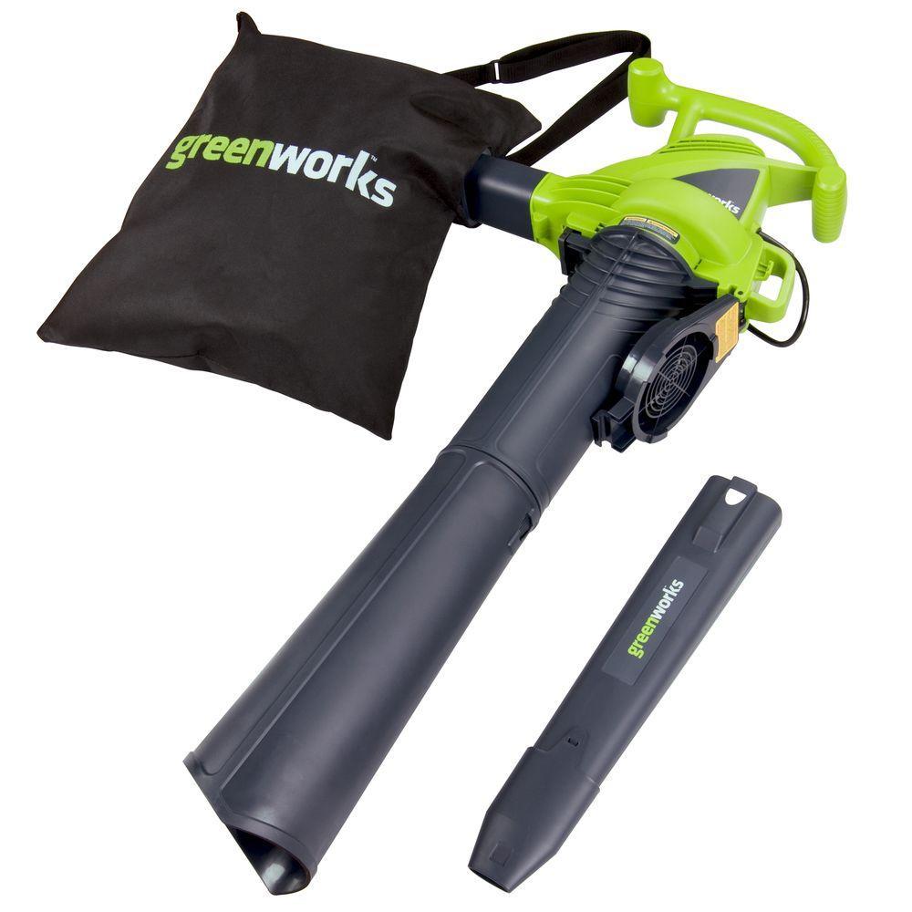 Greenworks 235 MPH 380 CFM 12 Amp Electric Handheld Leaf ...
