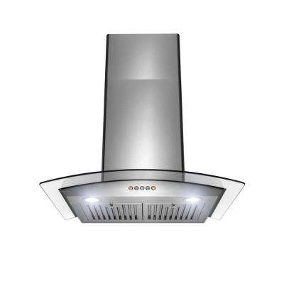 30 in. 350 CFM Convertible Wall Mount Range Hood with Push Panel in Stainless Steel