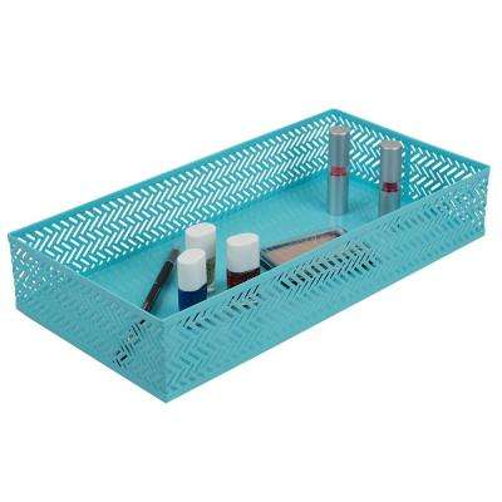 Chevron Vanity Tray in Turquoise