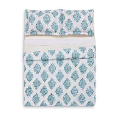 Annika Teal King Duvet Set