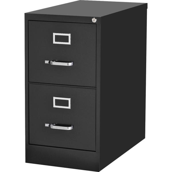 15 in. x 22 in. x 28.4 in. 2-Drawer Black Commercial-grade Vertical File