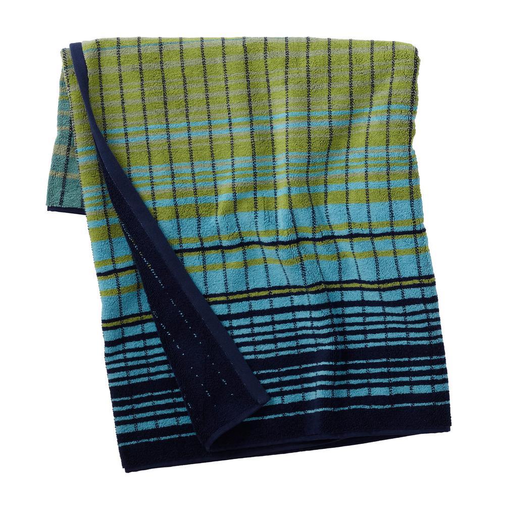 Ripple Stripe Cotton Fingertip Towel (Set of 2)