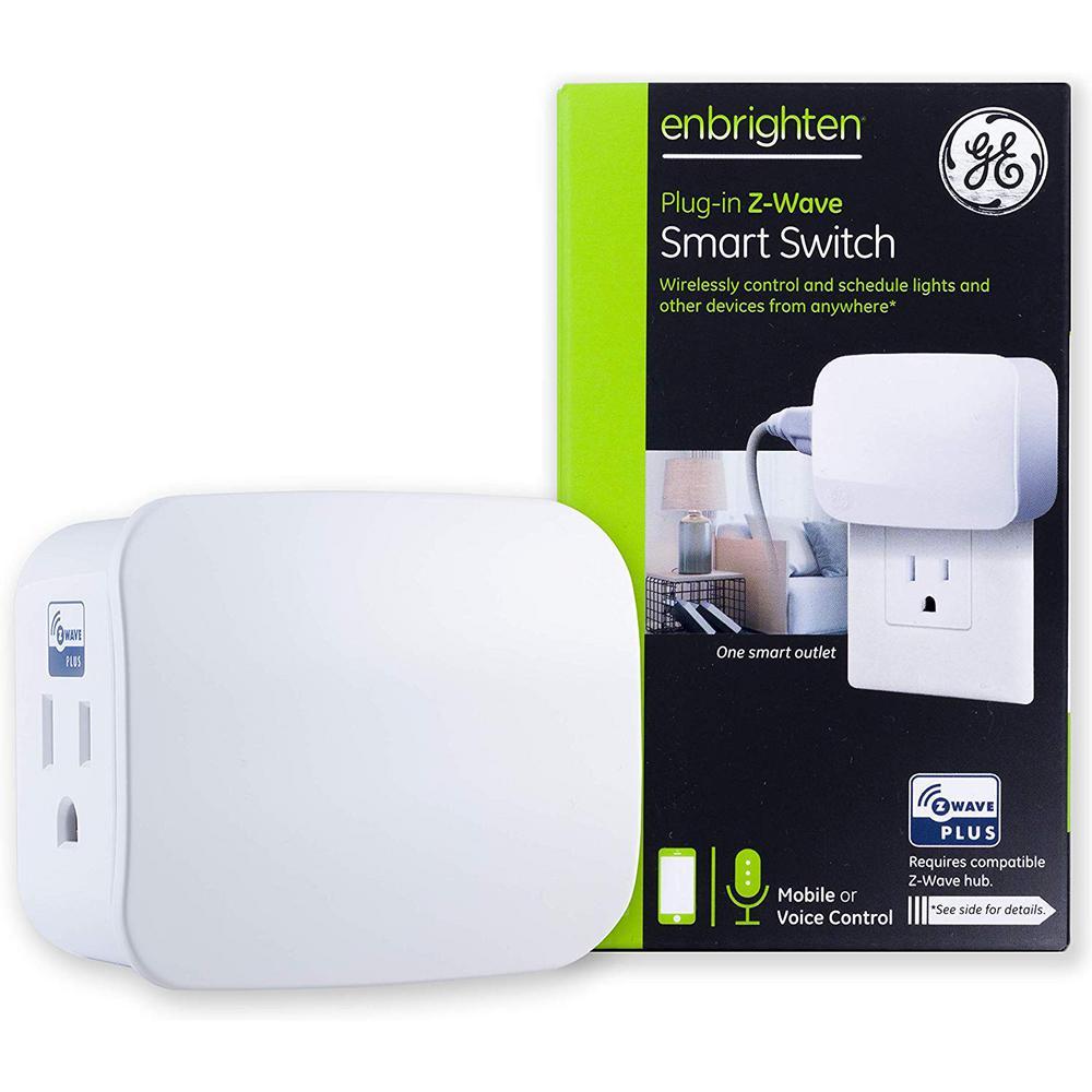 Enbrighten Z-Wave Plus Plug-In 1-Outlet Smart Light Switch