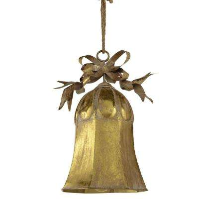 18.75 in. Oversized Gold Bell Ornament