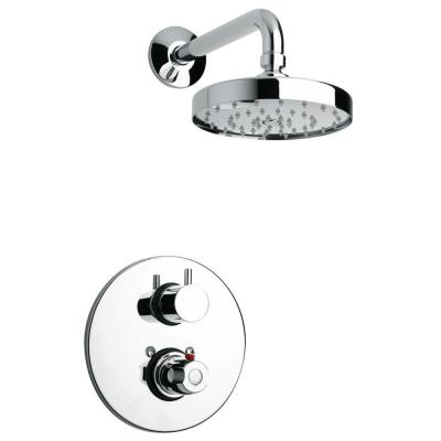 Elba Thermostatic 2-Handle 1-Spray Shower Faucet in Polished Chrome (Valve Included)