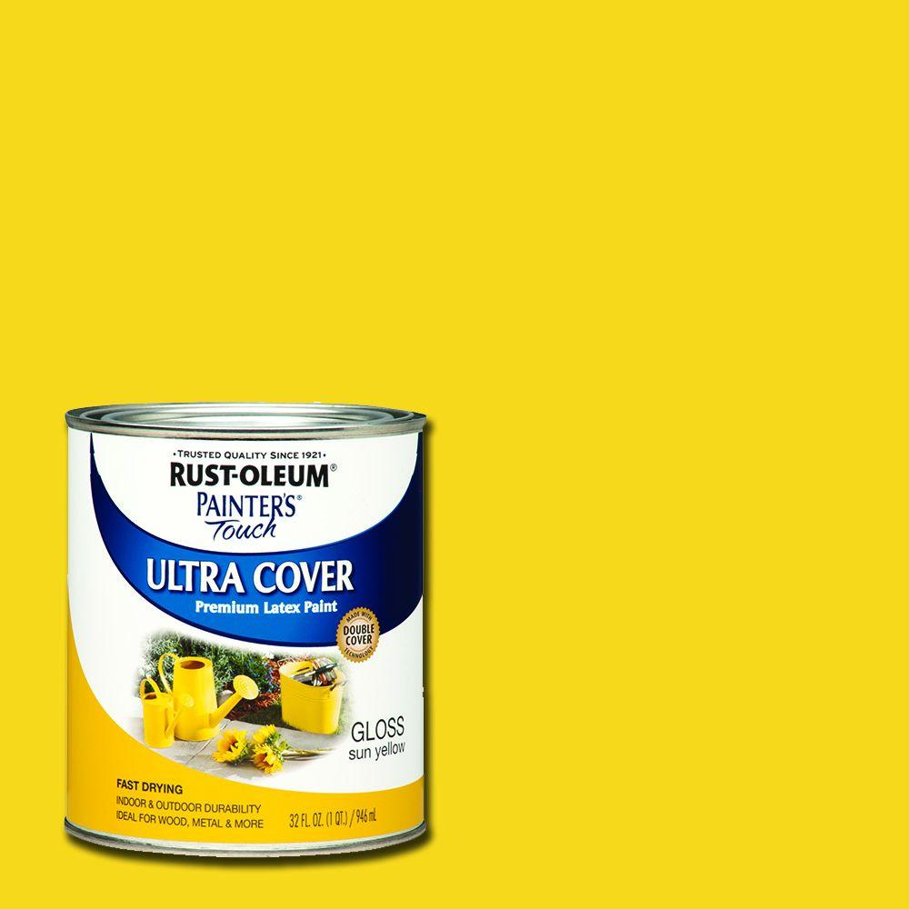 32 oz. Ultra Cover Gloss Sun Yellow General Purpose Paint (Case