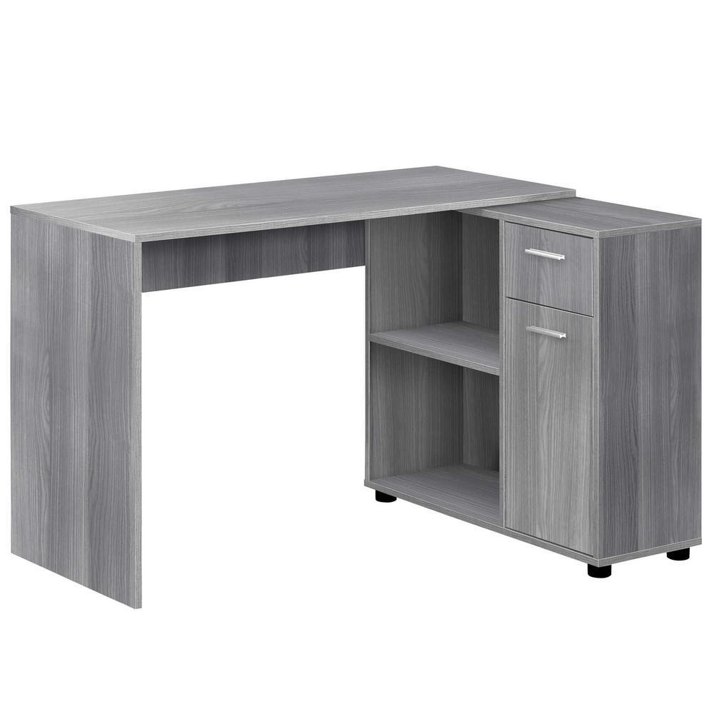 Jasmine 1-Piece Grey Computer Desk