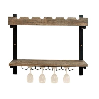 Pomona 6-Bottle  Wall Shelving with Wine Storage
