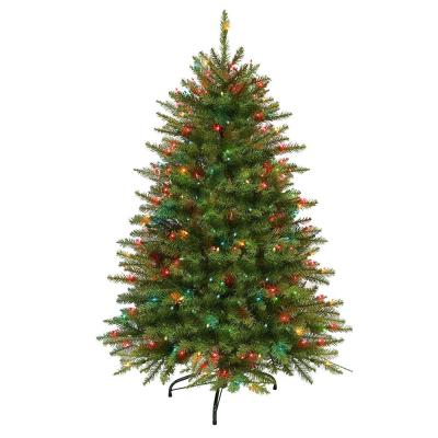 4.5 ft. Pre-Lit Fraser Fir Artificial Christmas Tree with 250 Multi-Colored UL listed Lights
