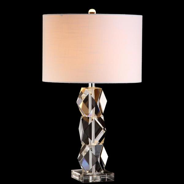 Jonathan Y Sofia 26 In Crystal Table Lamp Clear Jyl5012a The Home Depot