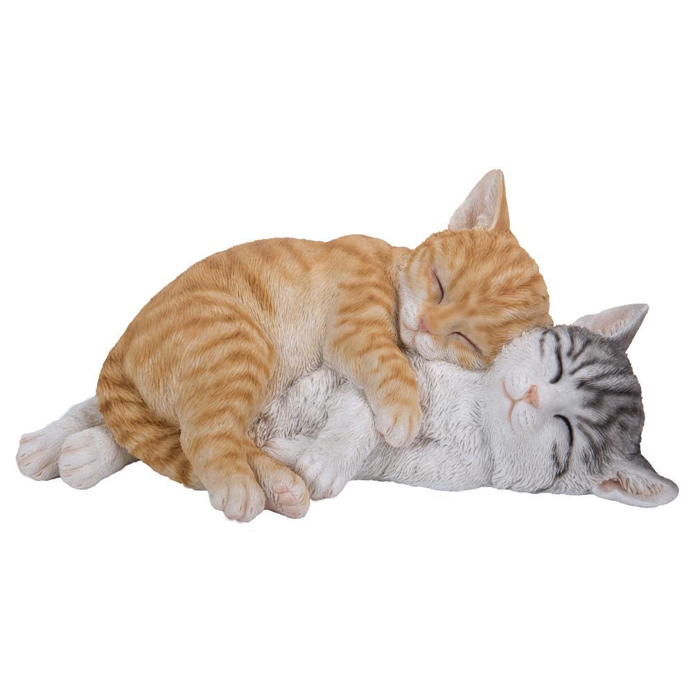 Hi Line Gift Sleeping Tabby Cats Statue