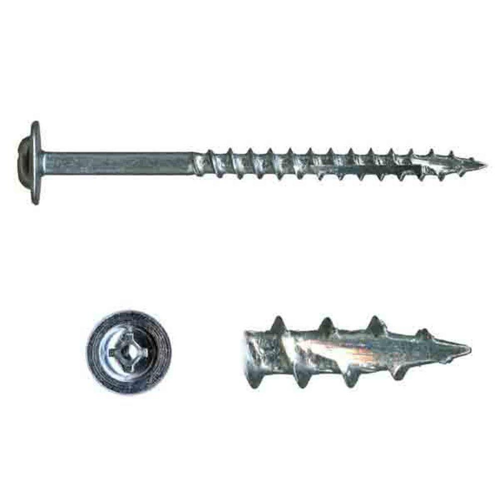 BCP365 Good Holding Power in Different Materials - Durable and Sturdy 100 Qty #6 x 1 Oval Head Zinc Coated Phillips Head Wood Screws