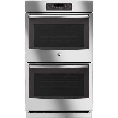 30 in. Double Electric Wall Oven Self-Cleaning with Steam in Stainless Steel