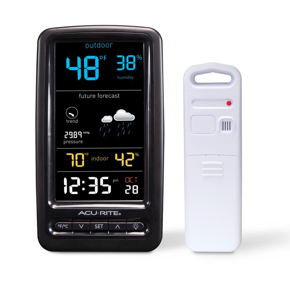 AcuRite Wireless Weather Station with Temperature, Humidity and Forecaster - AcuRite Wireless Weather Station With Temperature, Humidity And
