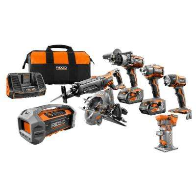 GEN5X 18-Volt 5 Piece Combo Kit with BONUS 18-Volt Brushless Trim Router and Dual Powered Bluetooth Jobsite Radio