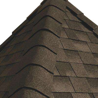 Timbertex Barkwood Double-Layer Hip and Ridge Cap Roofing Shingles (20 lin. ft. per Bundle) (30-pieces)