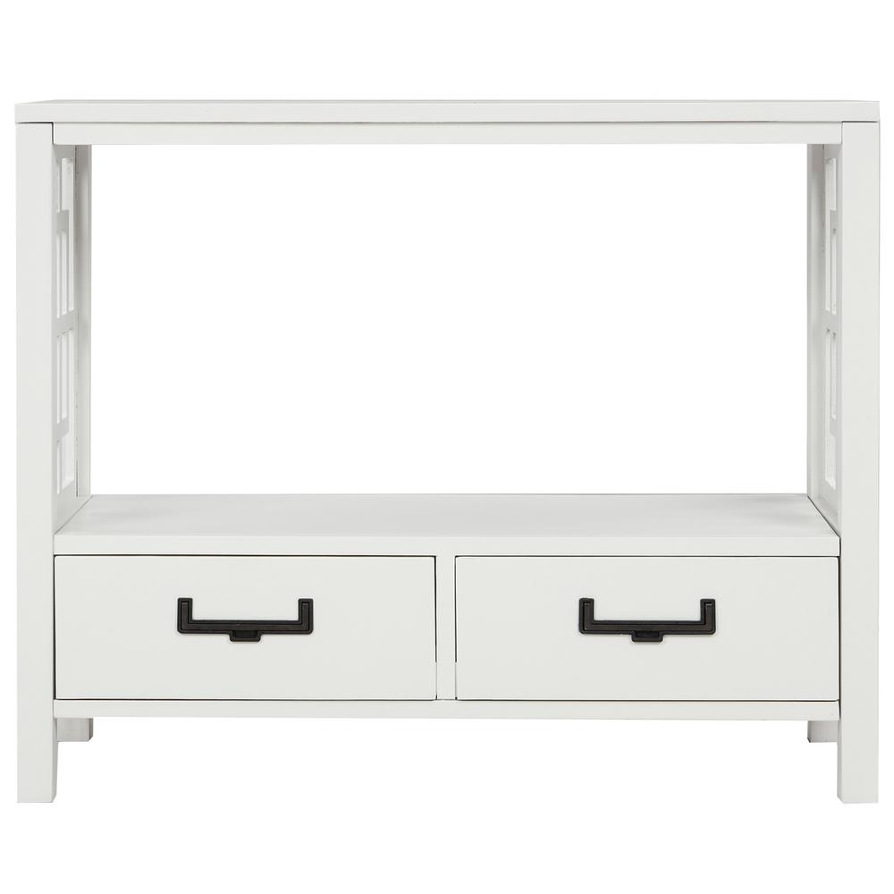 Harper & Bright Designs 30 in. White with 2-Bottom Drawers Console Table was $354.99 now $198.75 (44.0% off)