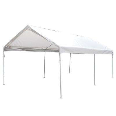 10 ft. W x 20 ft. D 6-Leg Universal Canopy in White
