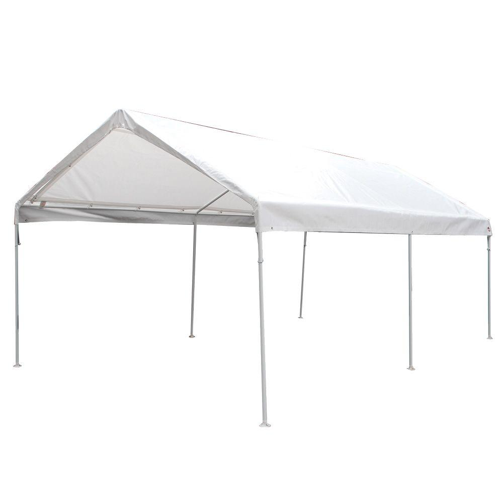 King Canopy 10 ft. W x 20 ft. D 6-Leg Universal Canopy in White