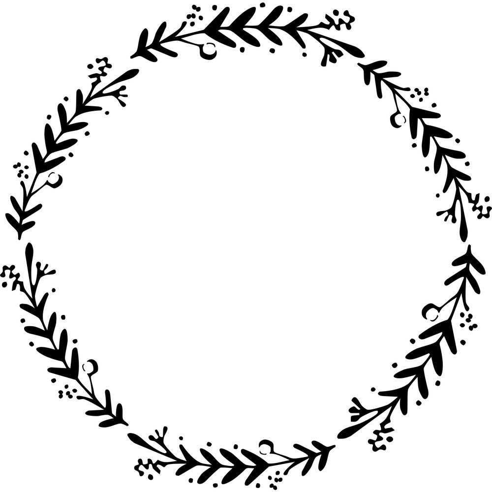 Berry Wreath Stencil