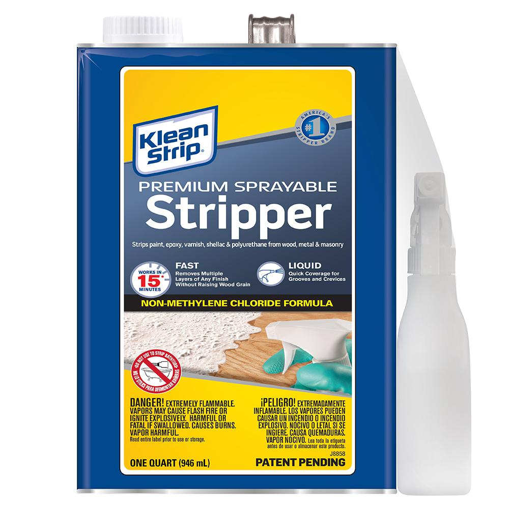 Klean strip 1 gal sprayable stripper gkss250sc the home depot for Sprayable exterior masonry paint