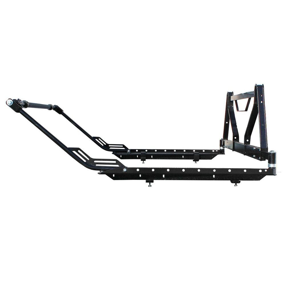 max load 500 lb  capacity compact aluminum hitch mounted cargo carrier-35802
