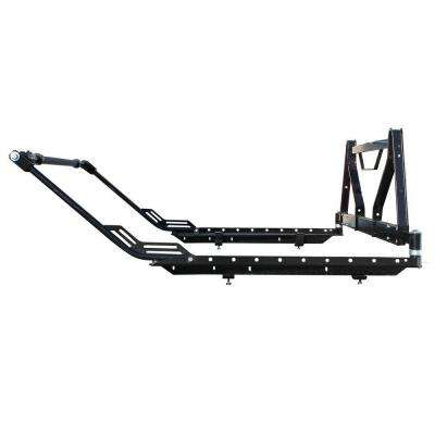 Ladder and Multipurpose Flip Out Truck Rack with Integrated Window Guard