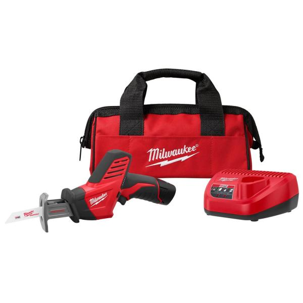 M12 12-Volt Lithium-Ion HACKZALL Cordless Reciprocating Saw Kit with (1) 1.5Ah Batteries, Charger & Tool Bag