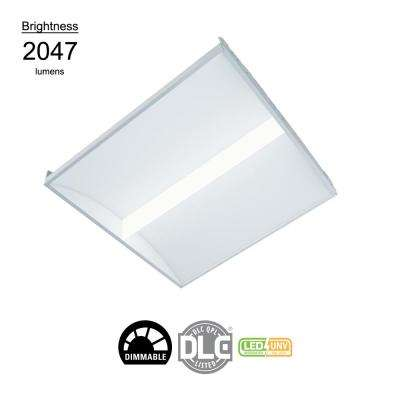 2 ft x 2 ft White Integrated LED Architectural Drop Ceiling Troffer Light with 2047 Lumens, 4000K