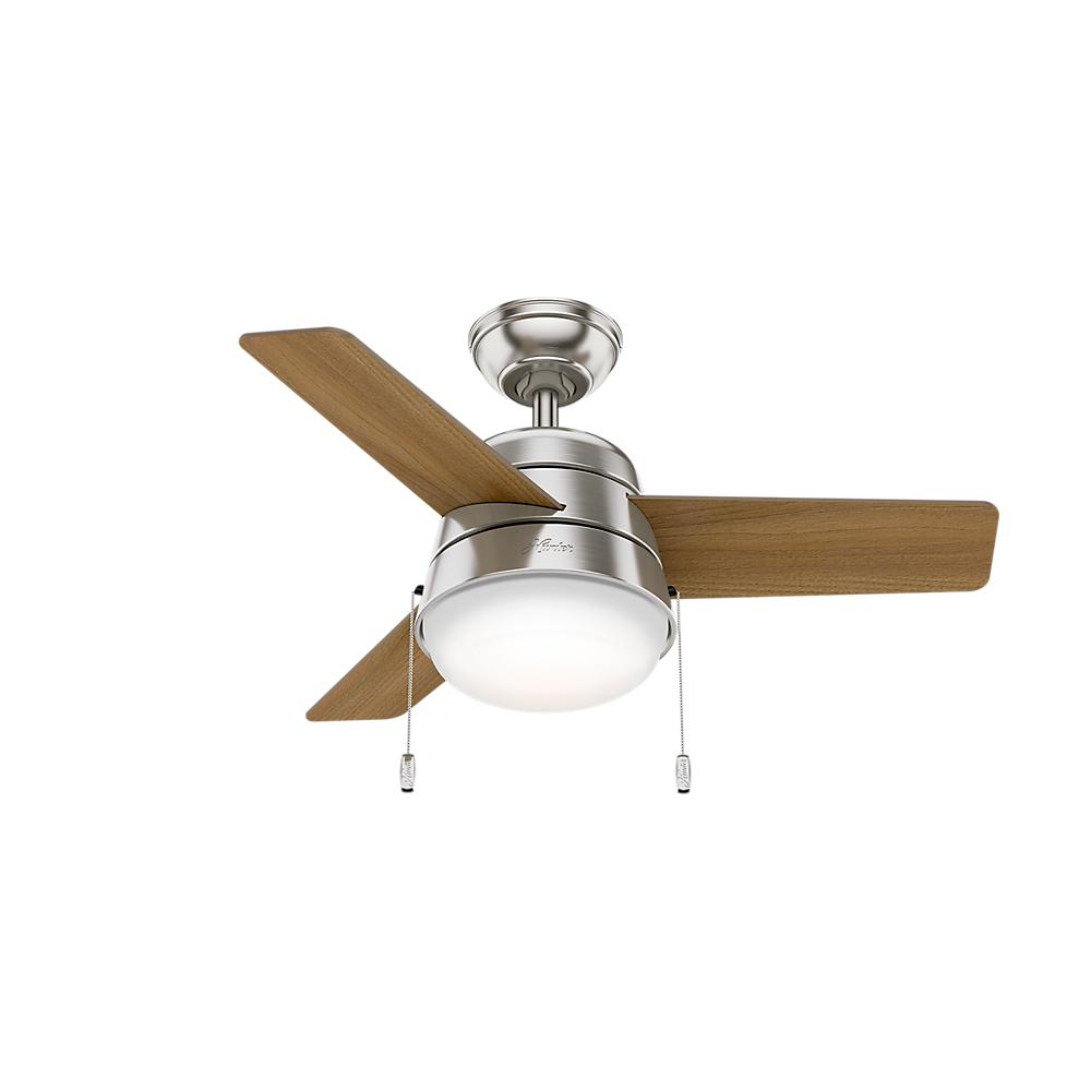 Hunter aker 36 in led indoor fresh white ceiling fan with light this review is fromaker 36 in led indoor brushed nickel ceiling fan with light aloadofball Gallery