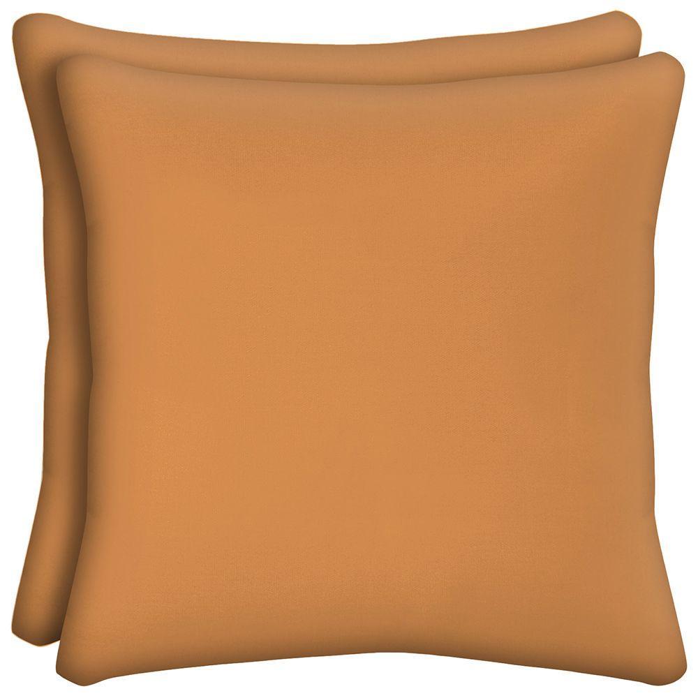 Pumpkin Solid Outdoor Pillow (2-Pack)