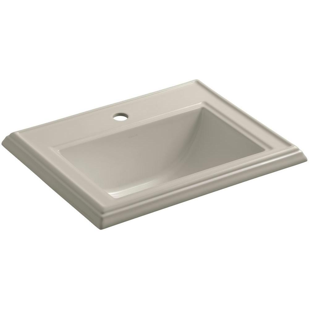 Memoirs Drop-In Vitreous China Bathroom Sink in Sandbar with Overflow Drain