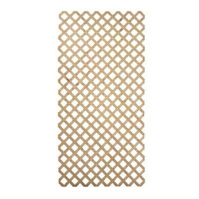 4 ft. x 8 ft. Pine Premium Pressure Treated Garden Wood Lattice