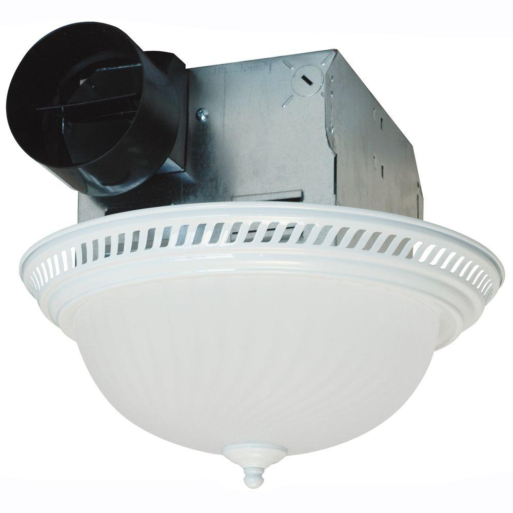 Air King Decorative White 70 CFM Ceiling Bathroom Exhaust Fan With Light DRLC703    The Home Depot