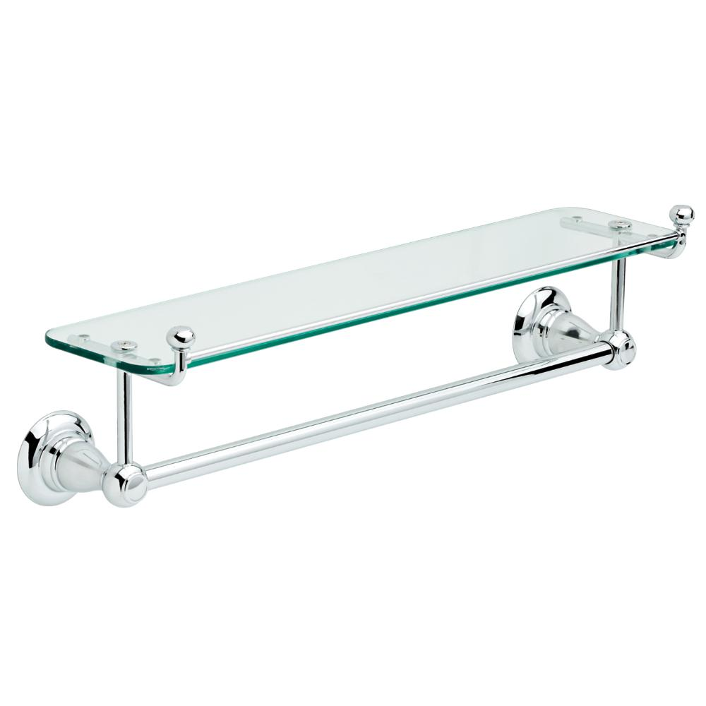 Delta Porter 18 in. Towel Bar with Glass Shelf in Chrome-78410-PC ...