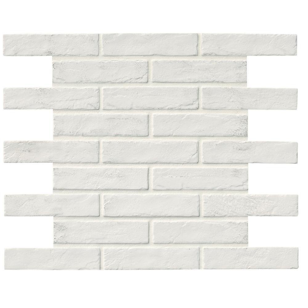 Msi capella white brick 2 13 in x 10 in glazed porcelain floor msi capella white brick 2 13 in x 10 in glazed dailygadgetfo Images