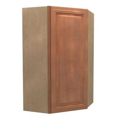 Dartmouth Assembled 24x42x12 in. Single Door Hinge Right Wall Kitchen Angle Cabinet in Cinnamon