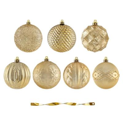 Holiday Traditions 80 mm Shatterproof Gold Ornament (60-Pack)