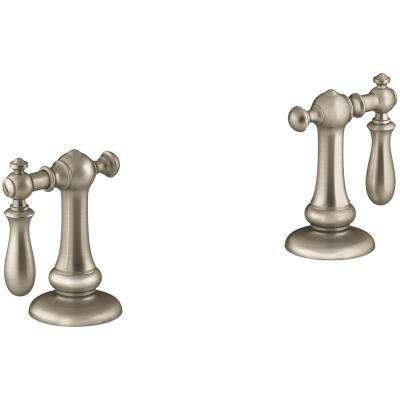 Artifacts Swing Lever 2-Handle Trim Kit in Vibrant Brushed Bronze (Valve Not Included)