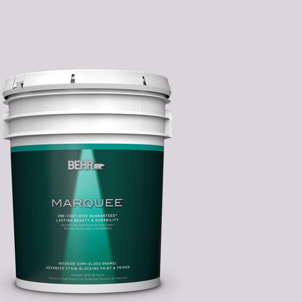5 gal. #MQ3-29 So Shy One-Coat Hide Semi-Gloss Enamel Interior Paint