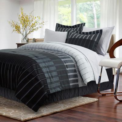 Ombre 8-Piece Grey King Bed in a Bag Set