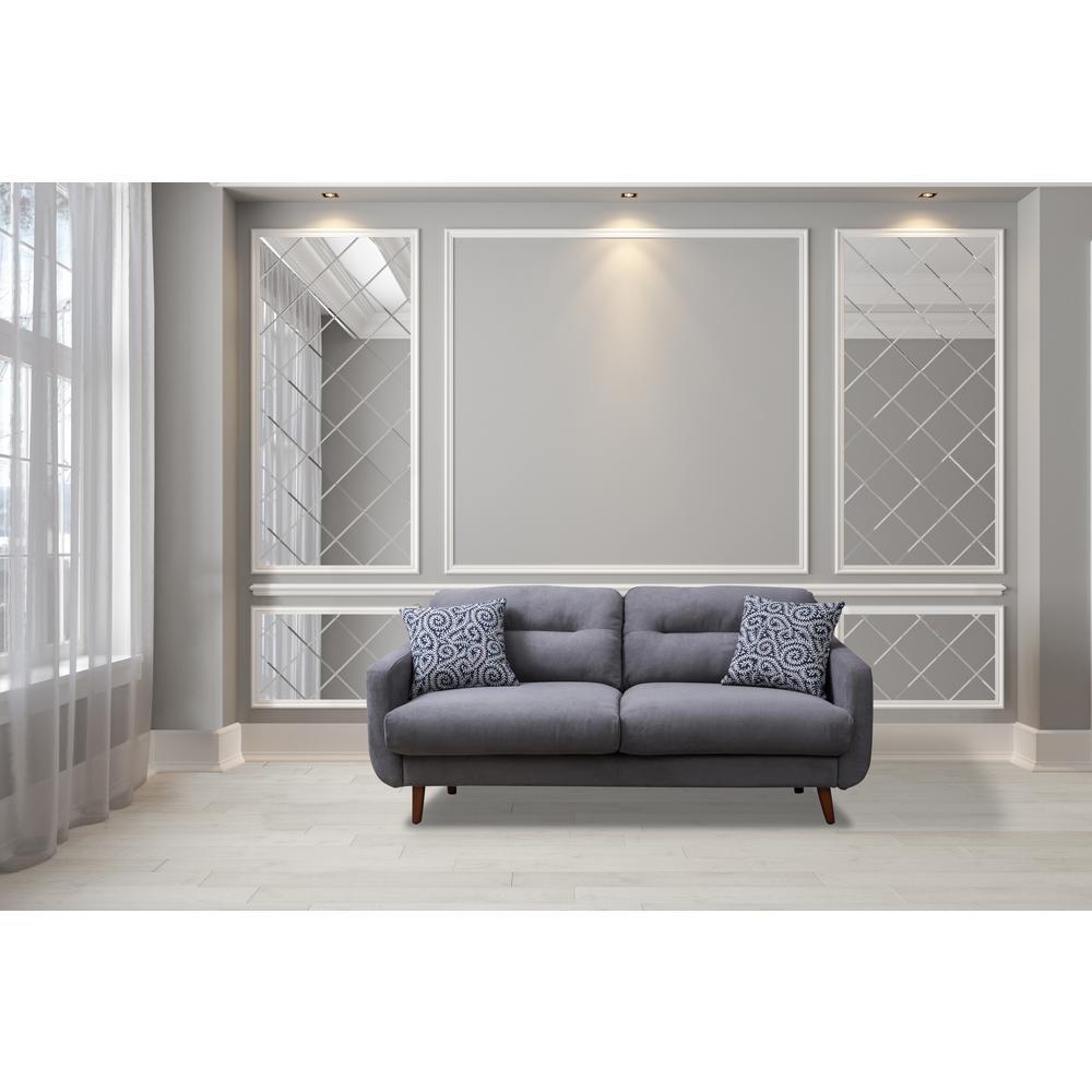 Gray Linen Urban Track Arm Sofa